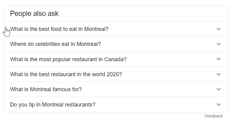 Google's autocomplete feature
